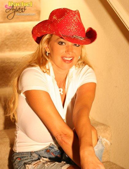 busty rachel cowboy hat
