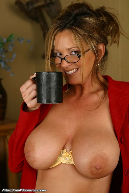 busty rachel big tits for breakfast