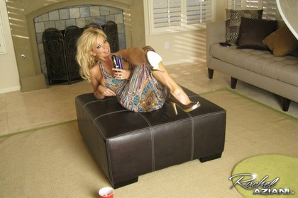 rachel aziani on couch
