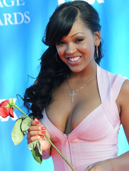 megan good sexy pink dress1. Here is Megan Good at the NAACP Awards, ...