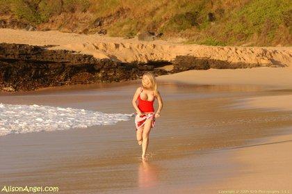 allison angel sexy-teen blonde on beach10