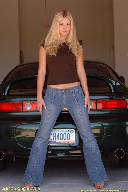 allison angel sexy car1