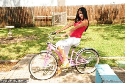 cierra spice topless bikeride1
