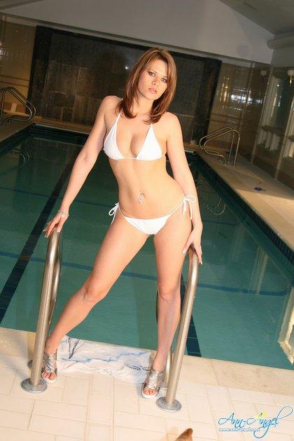 ann angel white bikini1