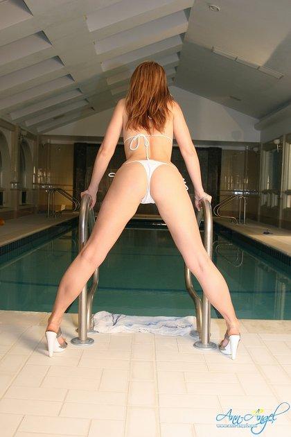 ann angel white bikini2