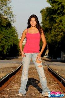 damsel in distress teen on railroad tracks1