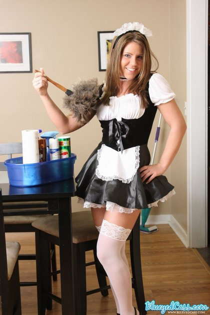 blue eyed cass french maid1