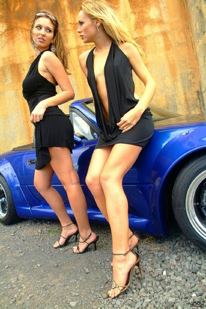 shay laren lesbian kisses sports car1