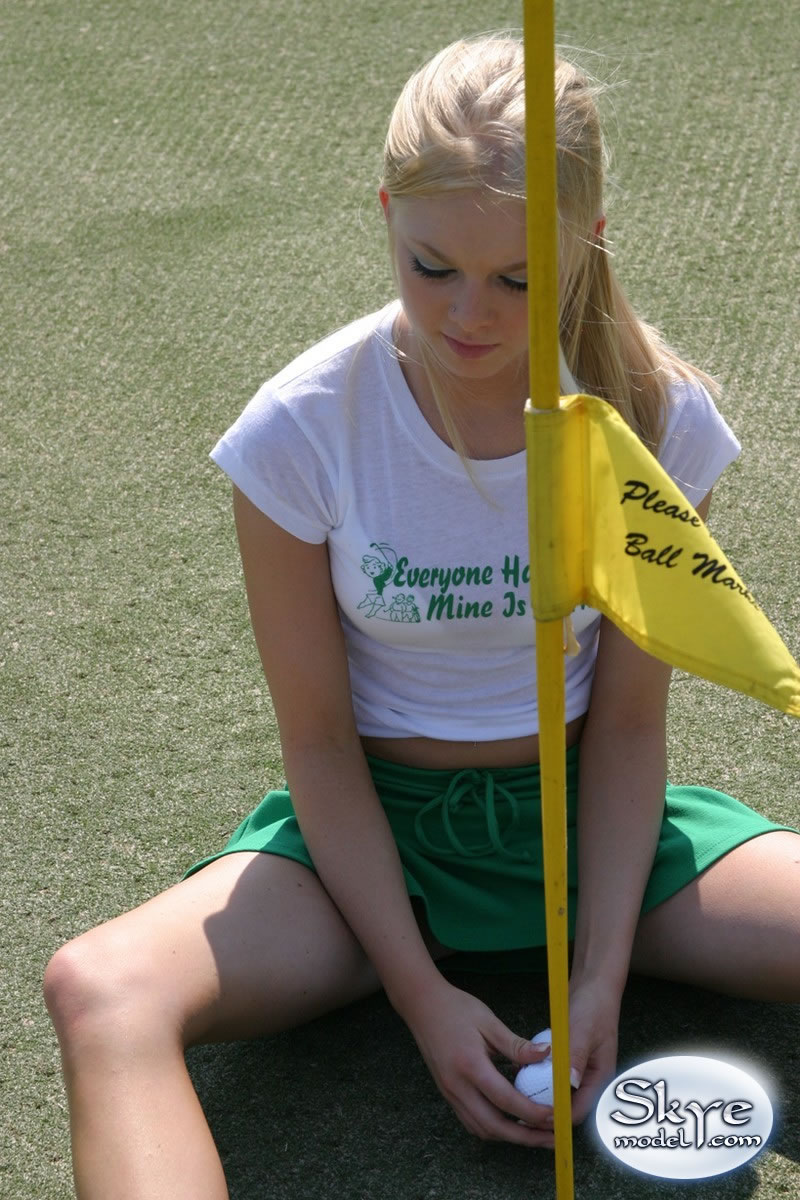 from Angelo short skirts on golf course