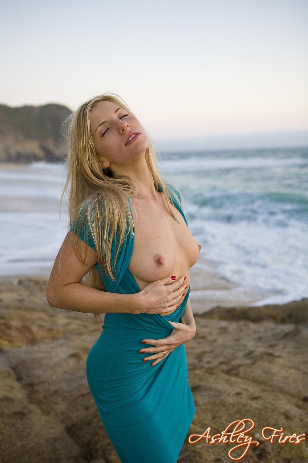 Ashley fires on the beach for
