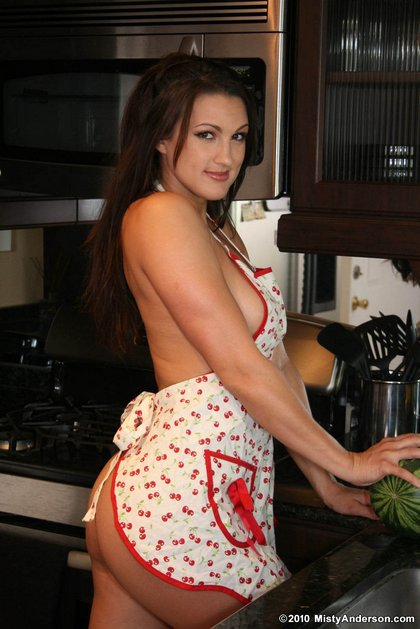 Imagine having the chance to watch Misty Anderson cook naked for us… that ...