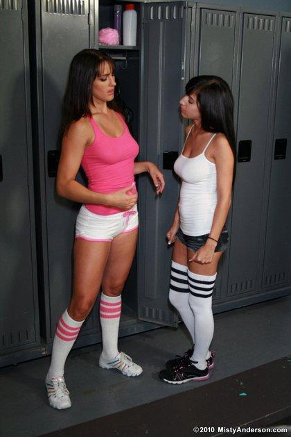Misty Anderson april ONeil locker room lesbians4