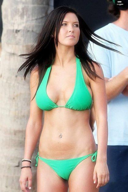 audrina-patridge-sexy green bikini