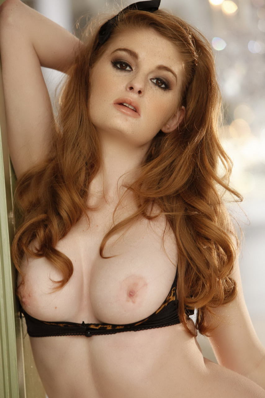 Redhead geek takes it up her chute 8
