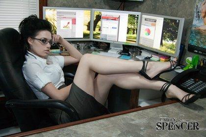harley spencer hot office babe1