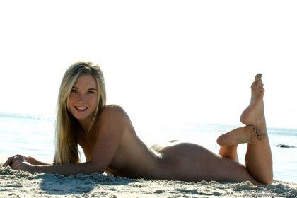 private school jewel naked on beach 2
