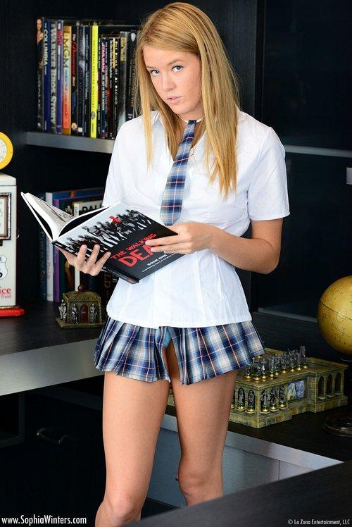 sophia wintes schoolgirl plaid skirt1