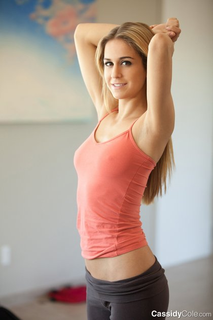 cassidy cole-tight yoga pants 1