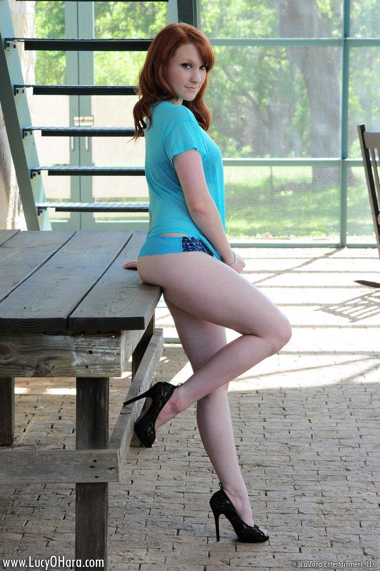 LucyOHara01 panties-high heels1